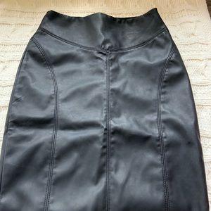 Express faux leather high waist pencil skirt